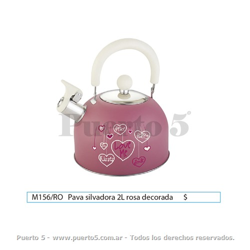 PAVA 2L DECORADA COLOR ROSA